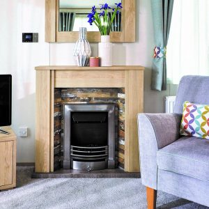 ABI Malham holiday home fireplace